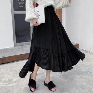Ameri VINTAGE - アシンメトリースカート プリーツロングスカート 韓国ファッション アマイル