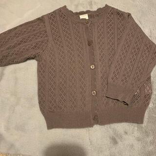 futafuta - テータテート 透かし編みカーディガン