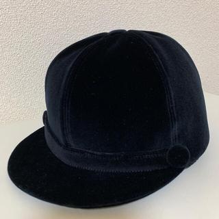 ボンポワン(Bonpoint)のBonpoint 乗馬帽 黒ベロア(その他)