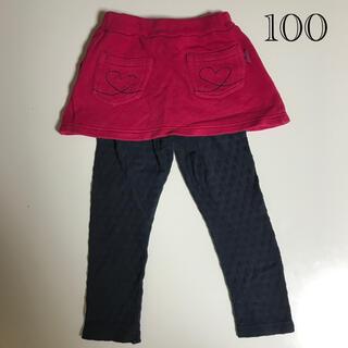 hakka kids - ハッカキッズ スカート付きレギンス 100