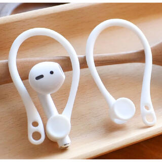 Bluetooth用 イヤーハング カフ 落下防止  AirPods ホワイト