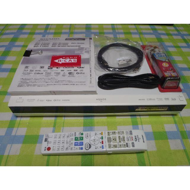 SHARP(シャープ)の動作保証 HDD新品 AQUOS ブルーレイレコーダー BD-W560SW スマホ/家電/カメラのテレビ/映像機器(ブルーレイレコーダー)の商品写真