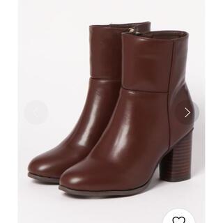 マーキュリーデュオ(MERCURYDUO)のMERCURYDUO ウッドヒールショートブーツ(ブーツ)