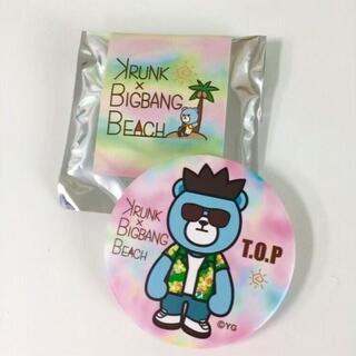 ビッグバン(BIGBANG)のBIGBANG BEACH限定グッズ♡開封のみ♡ランダム缶バッチ♡TOPトップ♡(ミュージシャン)