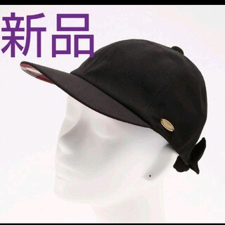 BURBERRY BLUE LABEL - 【新品未使用】バーバリーブルーレーベルクレストブリッジ リボンキャップ 黒色帽子