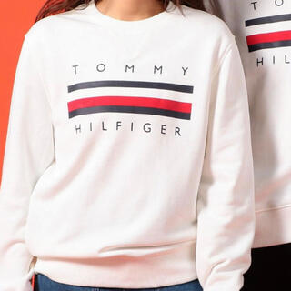 TOMMY HILFIGER - TOMMY HILFIGER 【オンライン限定】ロゴスウェット