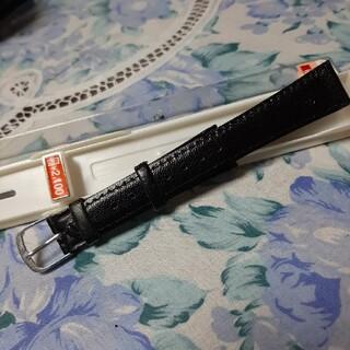 マルマン(Maruman)のMaruman 黒革風時計バンド 幅1.8cm   新品未使用(レザーベルト)