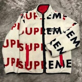 シュプリーム(Supreme)のSupreme Reversible Logo Fleece Jacket  M(ナイロンジャケット)