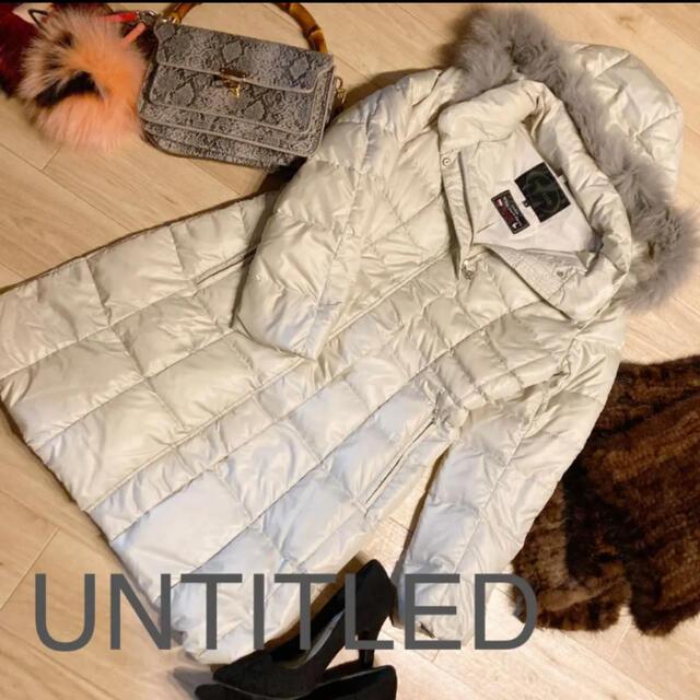 UNTITLED(アンタイトル)のsaya様専用!購入禁止アンタイトル 定価70000円程度 ホワイトダックダウン レディースのジャケット/アウター(ダウンコート)の商品写真