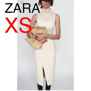 ZARA - ZARA レザー風フレアーミディスカート タグ付き新品未使用
