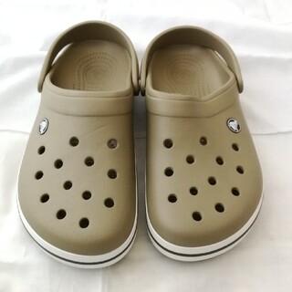 crocs - crocs クロックス サンダル ベージュ