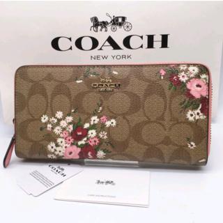 COACH - coach財布 F29931 長財布 花柄 ピンク色 女性用 高級感 おしゃれ