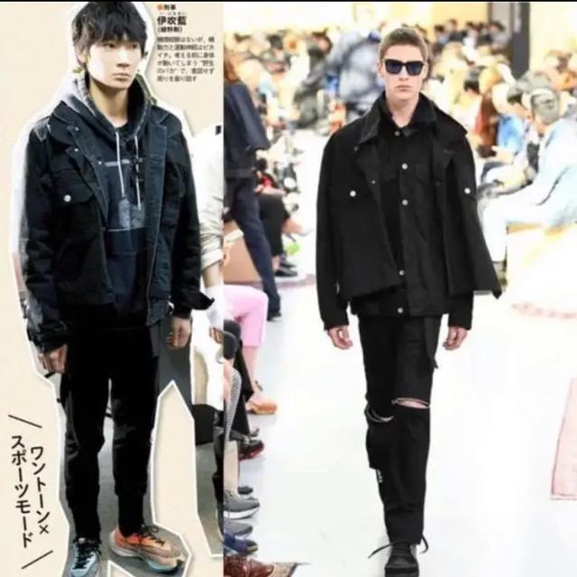 sacai(サカイ)の【sacai】20SS レイヤードデニムジャケット 綾野剛着用 メンズのジャケット/アウター(Gジャン/デニムジャケット)の商品写真