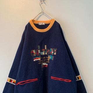 アートヴィンテージ(ART VINTAGE)の【美品】ADABT レトロ 刺繍 ニット セーター シルエット良(ニット/セーター)
