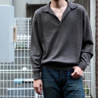 comoli カシミア スキッパー ニット オーラリー(ニット/セーター)