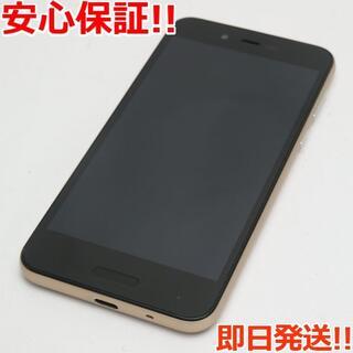 アクオス(AQUOS)の美品 SIMフリー SH-M05 ゴールド 本体 白ロム (スマートフォン本体)