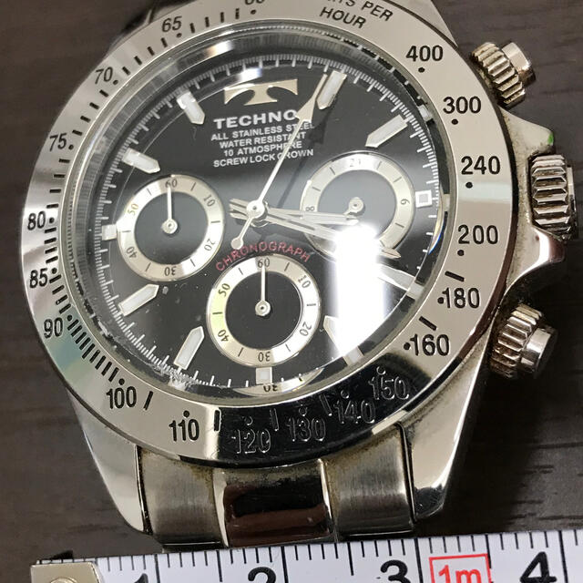 TECHNOS(テクノス)のテクノス クロノグラフ 美品‼️ メンズの時計(腕時計(アナログ))の商品写真