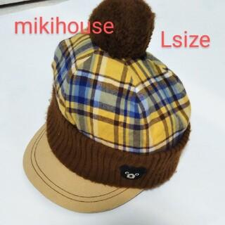 ダブルビー(DOUBLE.B)のミキハウスダブルビーニットキャップ帽子Lサイズ(帽子)