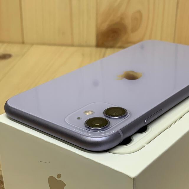Apple(アップル)の①【S】【99%】iPhone 11 64 GB SIMフリー パープル 本体 スマホ/家電/カメラのスマートフォン/携帯電話(スマートフォン本体)の商品写真