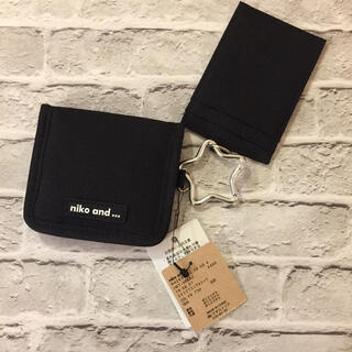 niko and... - 新品未使用 ニコアンド  ミニ財布 コインケース ブラック