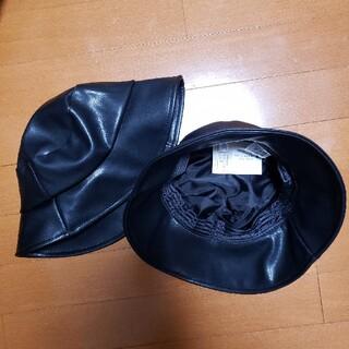 スリーコインズ(3COINS)のスリーコインズ レザー 帽子 2個セット(ハット)