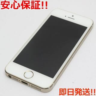 アイフォーン(iPhone)の新品同様 DoCoMo iPhone5s 16GB ゴールド 白ロム(スマートフォン本体)