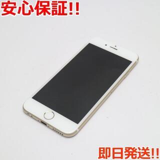 アイフォーン(iPhone)の美品 DoCoMo iPhone6 16GB ゴールド 白ロム(スマートフォン本体)