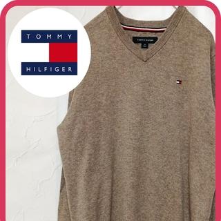 トミーヒルフィガー(TOMMY HILFIGER)の人気 トミーヒルフィガー セーター ベージュ お洒落 美品 メンズ(ニット/セーター)