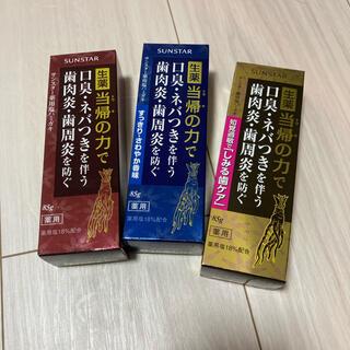サンスター(SUNSTAR)のサンスター 薬用塩ハミガキ しみる歯ケア  85g 未使用品 新品(歯磨き粉)