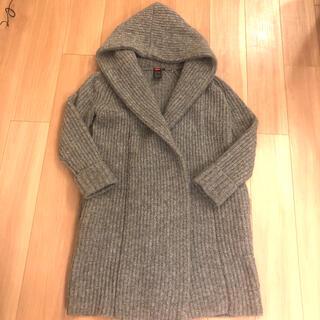 DOUBLE STANDARD CLOTHING - ダブルスタンダードクロージング ニットガウン ニットロングコート グレー