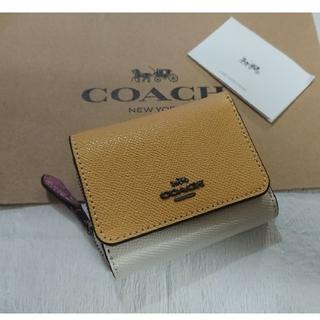 COACH - 1点入荷❗最新色  コーチ三つ折り財布  ハニーマルチ