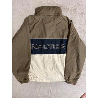ノーティカ(NAUTICA)のnautica ノーティカ 厚手ナイロンジャケット 刺繍ロゴ ビックロゴ(ナイロンジャケット)