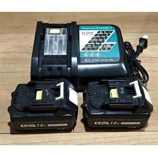 マキタ 1860b純正タイプ互換バッテリー2個&充電器セット(工具/メンテナンス)