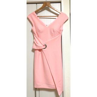 ジュエルズ(JEWELS)のJEWELS ピンク ドレス キャバドレス(ミニドレス)