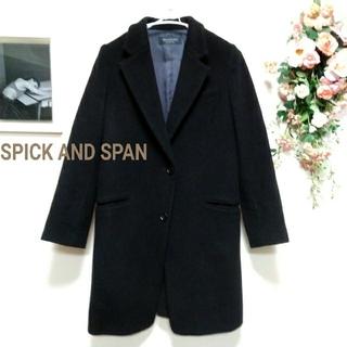 Spick and Span - Spick&Span 黒 ウール100 メルトンチェスターコート