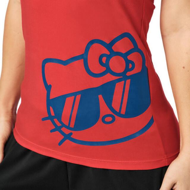 Zumba(ズンバ)のzumba キティ 赤 タンクトップ  レーサーバック レディースのトップス(タンクトップ)の商品写真