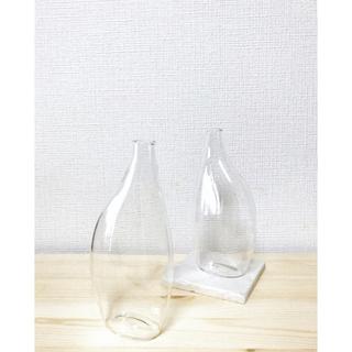 アクタス(ACTUS)の北欧デザイナーの花瓶🍋新品 スタイリッシュなフラワーベース 吹きガラス一輪挿し(花瓶)