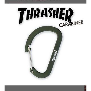 THRASHER - Thrasher カラビナ キーホルダー ブラック スラッシャー