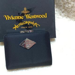 Vivienne Westwood - 新品☆Vivienne Westwood ロゴプレート がま口折り財布 ブラック
