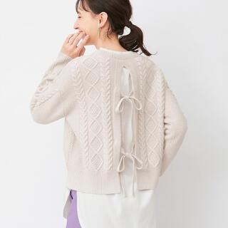 GU - GU/ジーユー♡今期大人気!バックリボンケーブルセーター