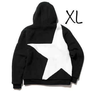 F.C.R.B. - XL POLARTEC BOA FLEECE BIG STAR HOODIE