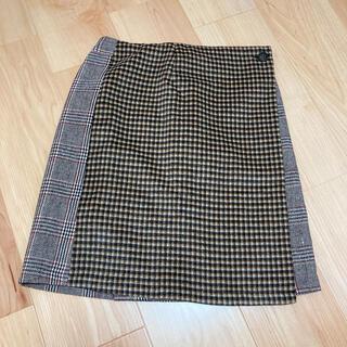 メルロー(merlot)の台形ラップスカート(ミニスカート)
