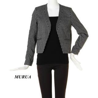 MURUA - 新品 MURUA ノーカラーストライプジャケット