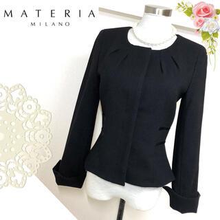 MATERIA - 未使用マテリア(サイズ38)黒のノーカラージャケット