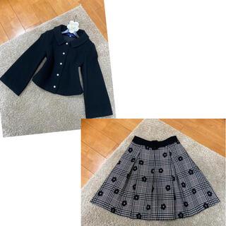 エムズグレイシー(M'S GRACY)の美品!エムズグレイシー ジャケット スカート(ひざ丈ワンピース)