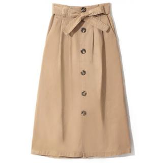 GRL - GRL ウエストリボントレンチスカート ライトベージュ 人気 韓国ファッション