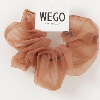 ウィゴー(WEGO)の新品☆ WEGO ☆ 透けシアーシュシュ ブラウン 茶色(ヘアゴム/シュシュ)