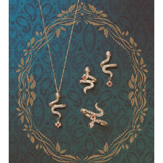 ANNA SUI - ANNA SUI(アナスイ)蛇 薔薇ネックレス イエローゴールド