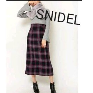 snidel - SNIDEL スナイデル★ハイウエストロングチェックスカート★ロングタイト