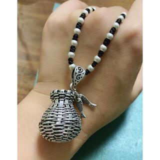 復古藏銀びくのネックレス